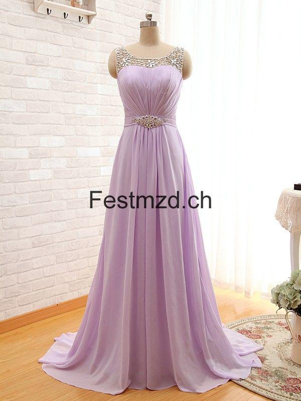 A Linie Lang Lila Chiffon Abendkleider Abendkleid Ballkleid Chiffon Abendkleider