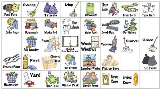 image relating to Bing Free Printable Clip Art known as wfmw - chore chart graphics Spouse and children chore charts Chore