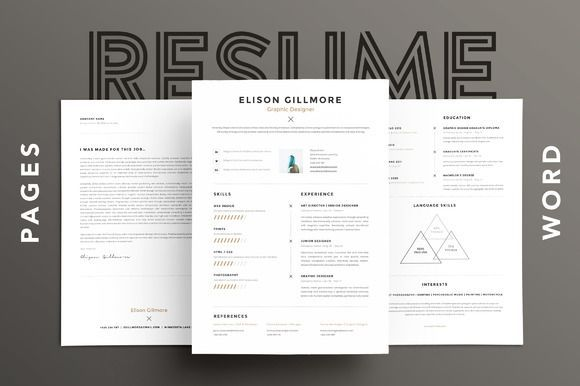 Unique Resume Templates Stunning Best Unique Resume Cv  Pages  Word Creativework247  Fonts Design Inspiration