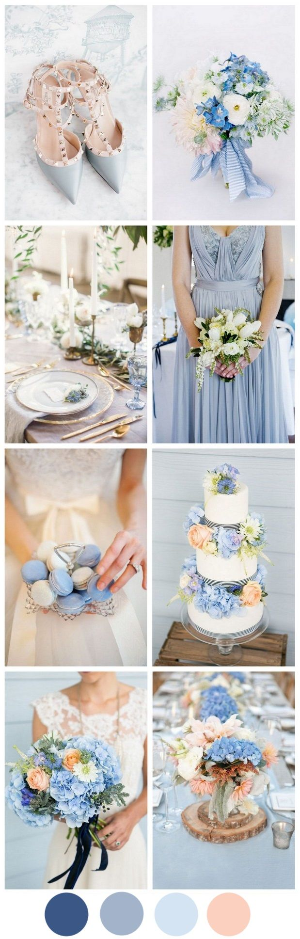 Cornflower Blue & Peach - A Very Sweet Summer Wedding Palette ...