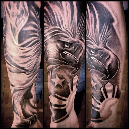 philippine eagle tattoo tattoo pinterest philippine eagle rh pinterest com Ancient Filipino Tribal Tattoos Haribon Tattoo