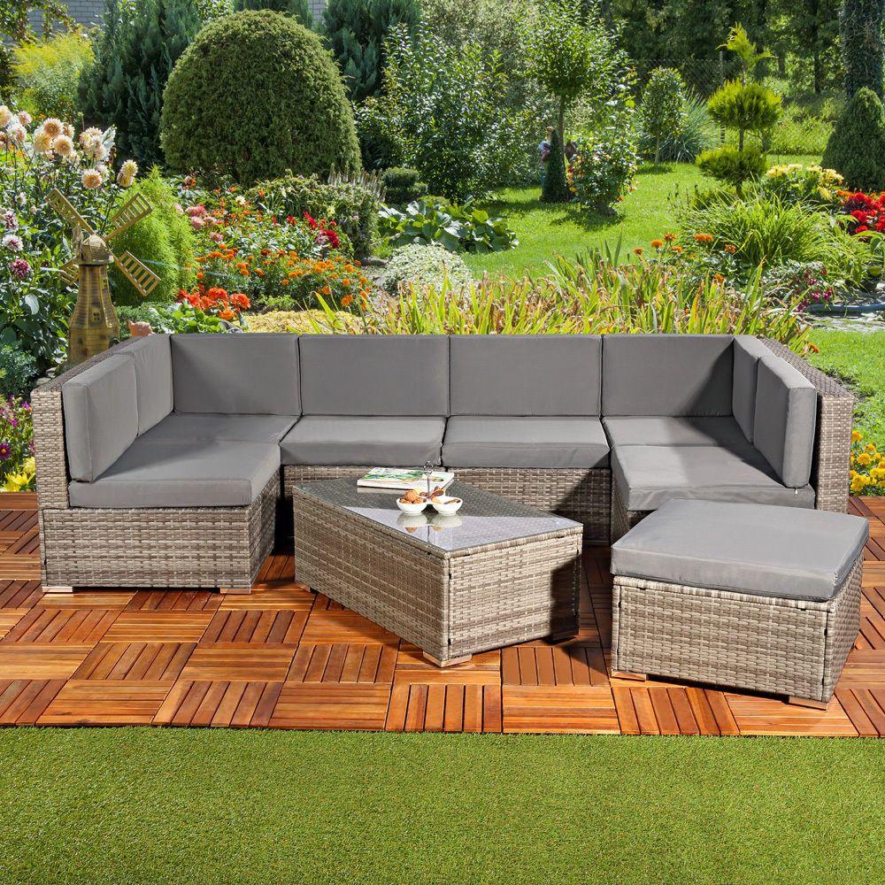 Polyrattan Sitzgruppe Lounge Sessel Sofa Sitzgarnitur Gartenmobel Gartenset Brau Garten Terrasse Mobe Sitzgruppe Polyrattan Sitzgruppe Rattan Mobel Garten