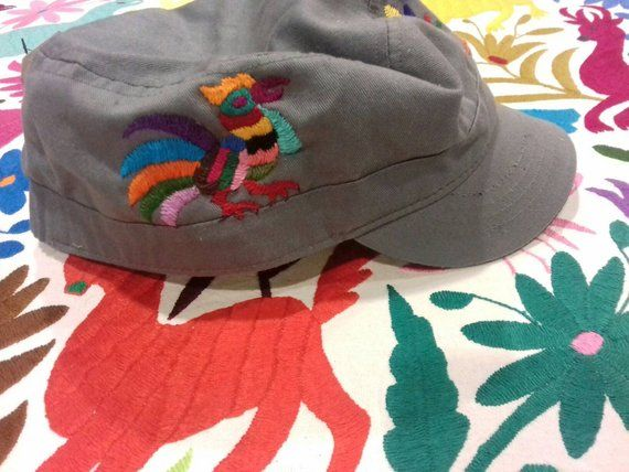acd4403386d23 Handmade Otomi embroidery cap. Otomi Handicrafts. TENANGO   Sending cost on  description.