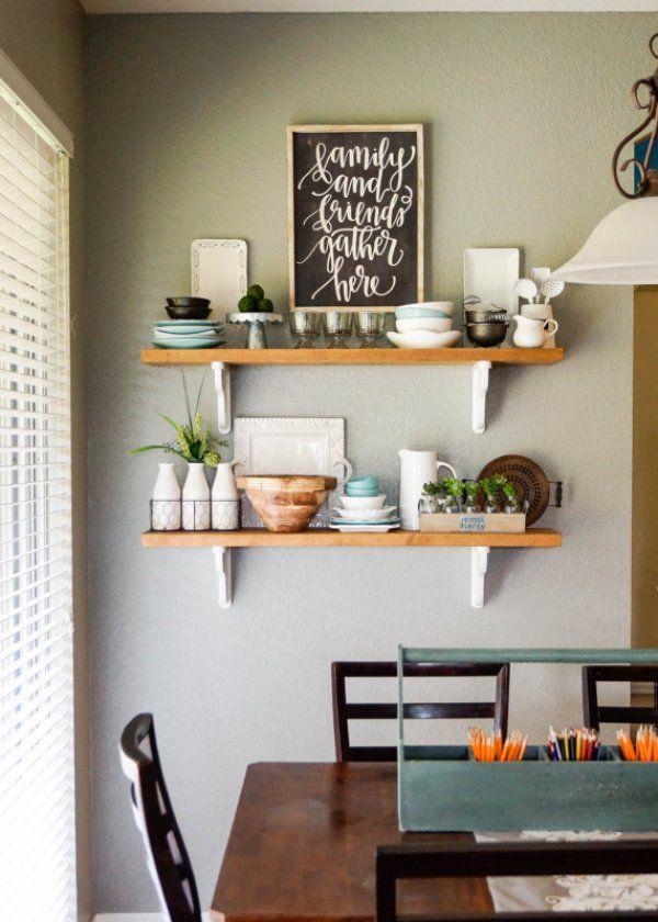 Diy Adorable Types Of Handmade Shelves Dining Room Shelves