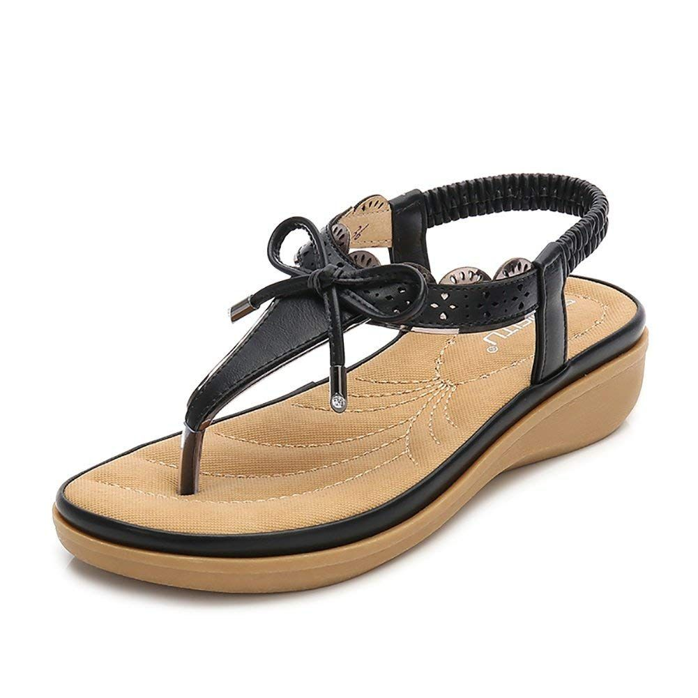 444a4f7f2da Wollanlily Women T-Strap Summer Flat Sandals Beach Platform Beads Flip  Flops Thong Shoes    Hope that you do enjoy our picture. (This is an  affiliate link) ...