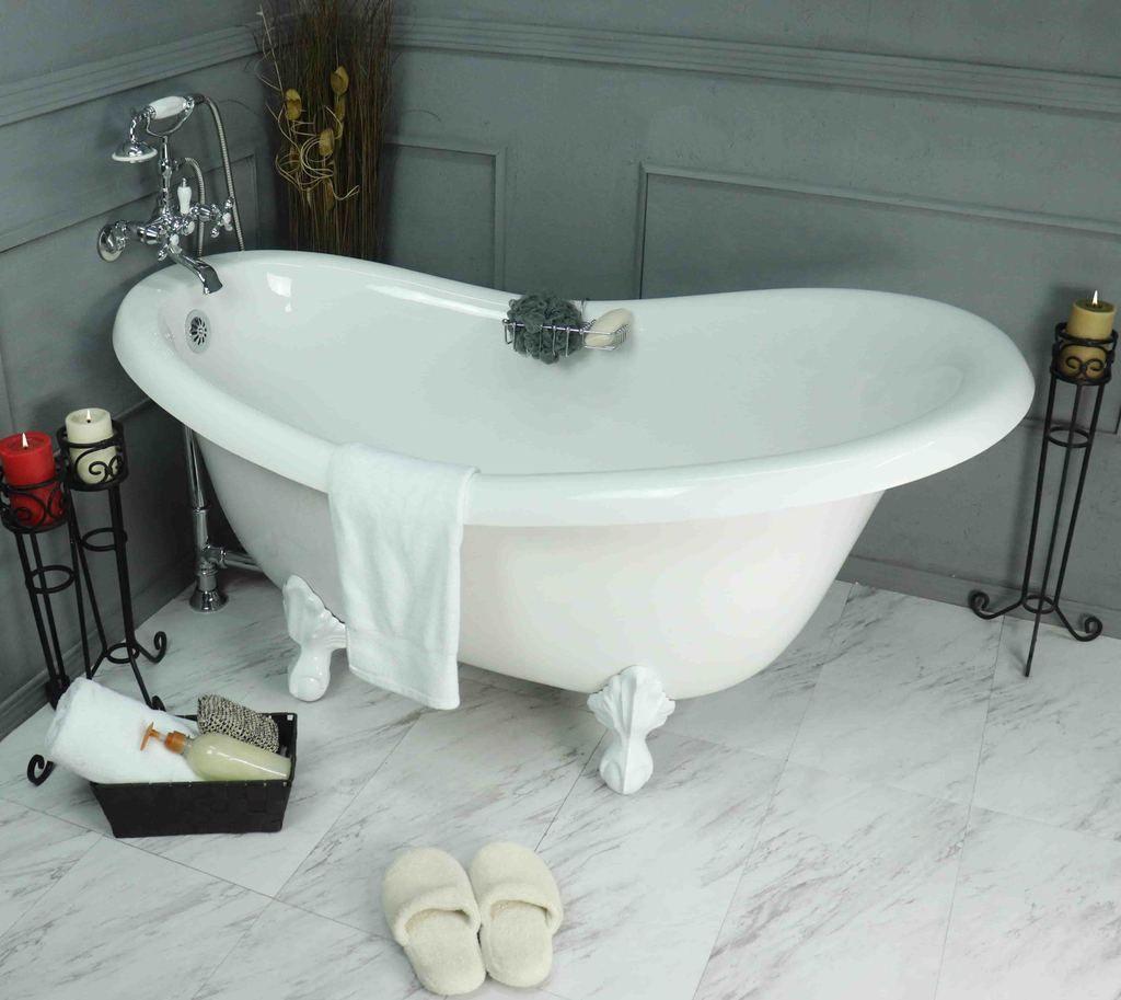 Clawfoot Slipper Bathtub In 2020 Bathtub Clawfoot Bathtub Tub
