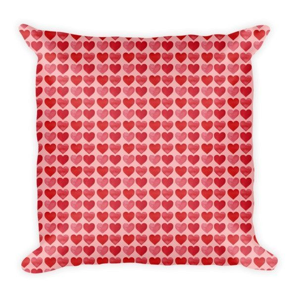 Worn Hearts Pattern on Pink Pillow