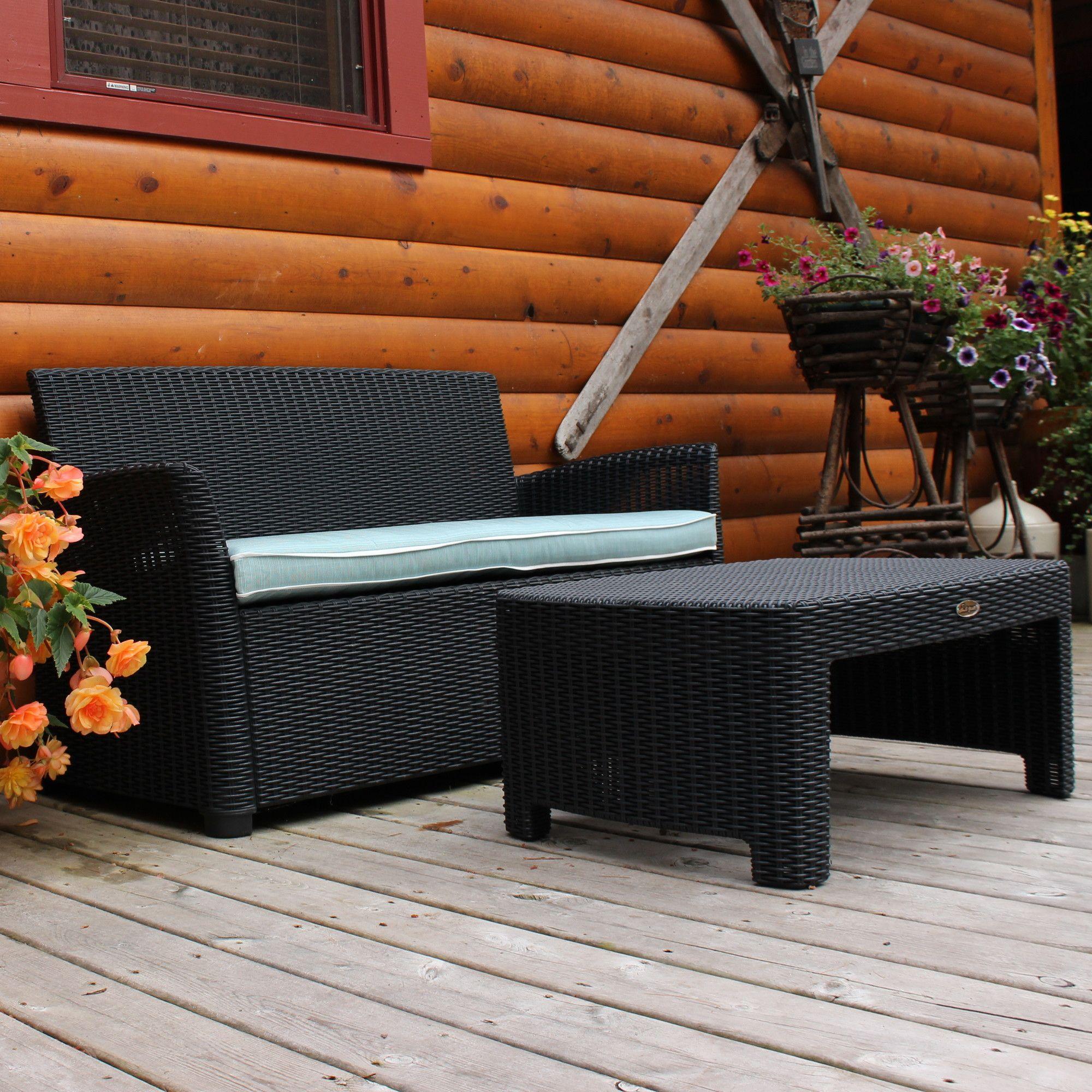 Gardenia 2 Piece Lounge Seating Group with Cushion