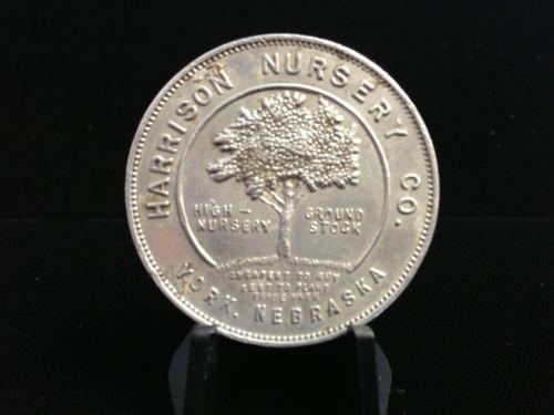 York Nebraska Harrison Nursery Co Token Coin Medal Ne Neb Nebr