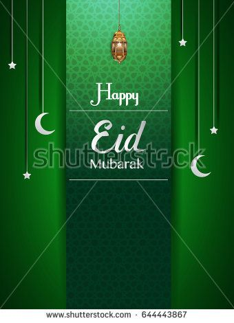 happy eid mubarak greetings background, Elegant element for design - eid card templates
