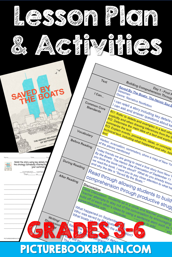 Saved By The Boats by Julie Gassman Lesson Plan and Activities,  Saved By The Boats by Julie Gassma