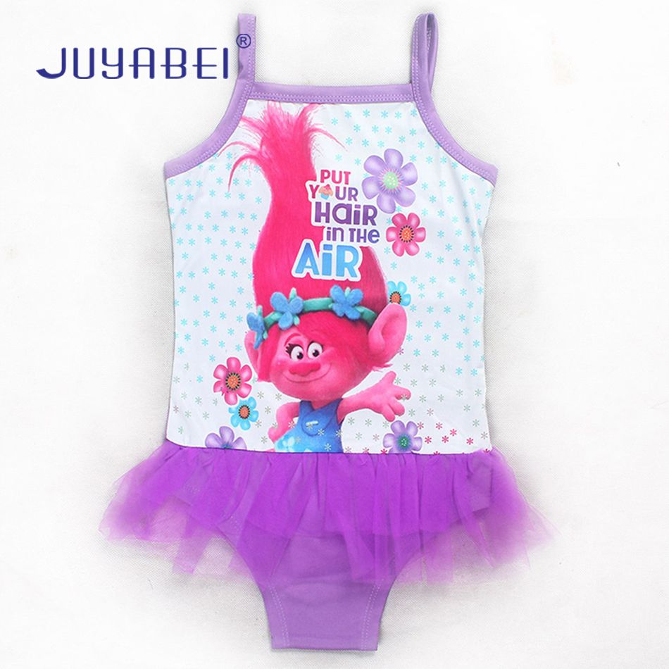 ebbd9c95e9 JUYABEI 2017 Trolls Baby Girls Kids Swimsuit One-piece Lace Patchwork Summer  Cartoon Swim Wear Bikinis Baby Bathing Suit Dress #Affiliate