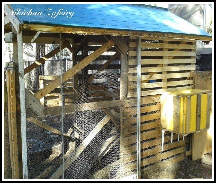 Gallinero paso a paso de madera con palets jardin for Palets de madera para jardin