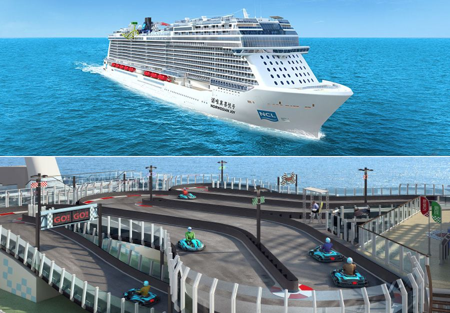 Upcoming 'Norwegian Joy' Cruise Ship Will Feature A Go-Kart