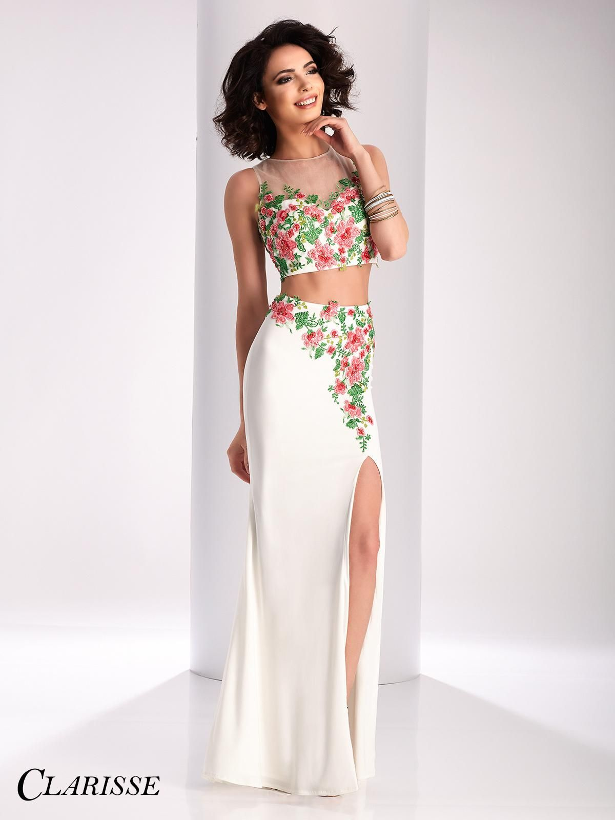 a2171256d85 Clarisse Two Piece Floral Prom Dress 3056. Buy this sweet and simple prom  dress with