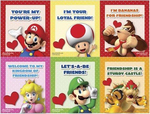 Nintendo Unveils Their Friend Zone Valentine S Day Cards Printable Valentines Day Cards Valentines Printables Valentines Cards