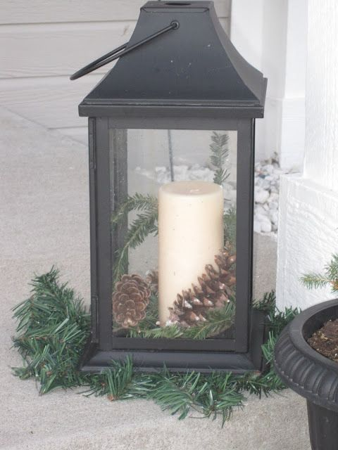 Front Porch Winter Display With Free Greenery Winter Porch