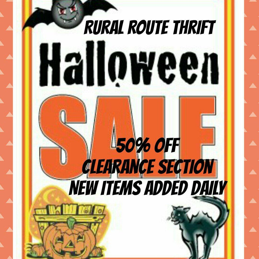 Rural Route Thrift Halloween Clearance Sale   50% Off