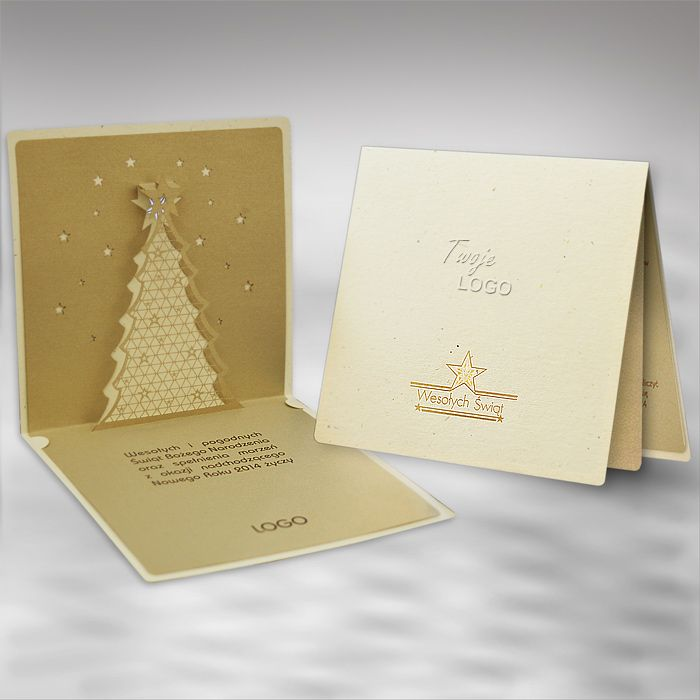 The Christmas card is made of high quality eco ecru paper.The insert ...