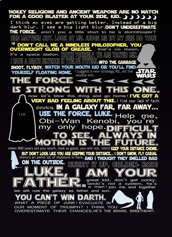 Funny Star Wars Quotes star wars funny quote print 11x14 by studiomarshallarts on Etsy  Funny Star Wars Quotes