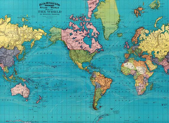 World map printable digital downloadntage world map old etsy world map printable digital downloadntage world map old gumiabroncs Image collections