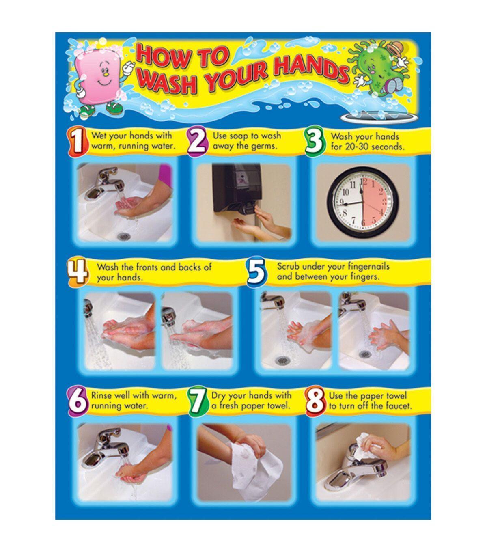 5 Handwash Poster Nursing Handwash Poster Classroom Carson