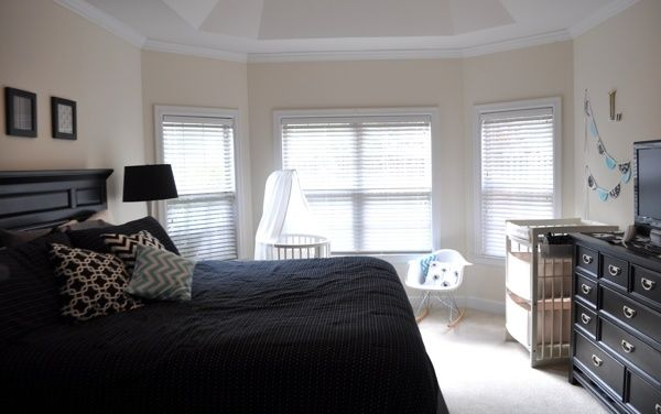 Master Bedroom Nook modern nursery nook in master bedroom {with stokke sleepi & care