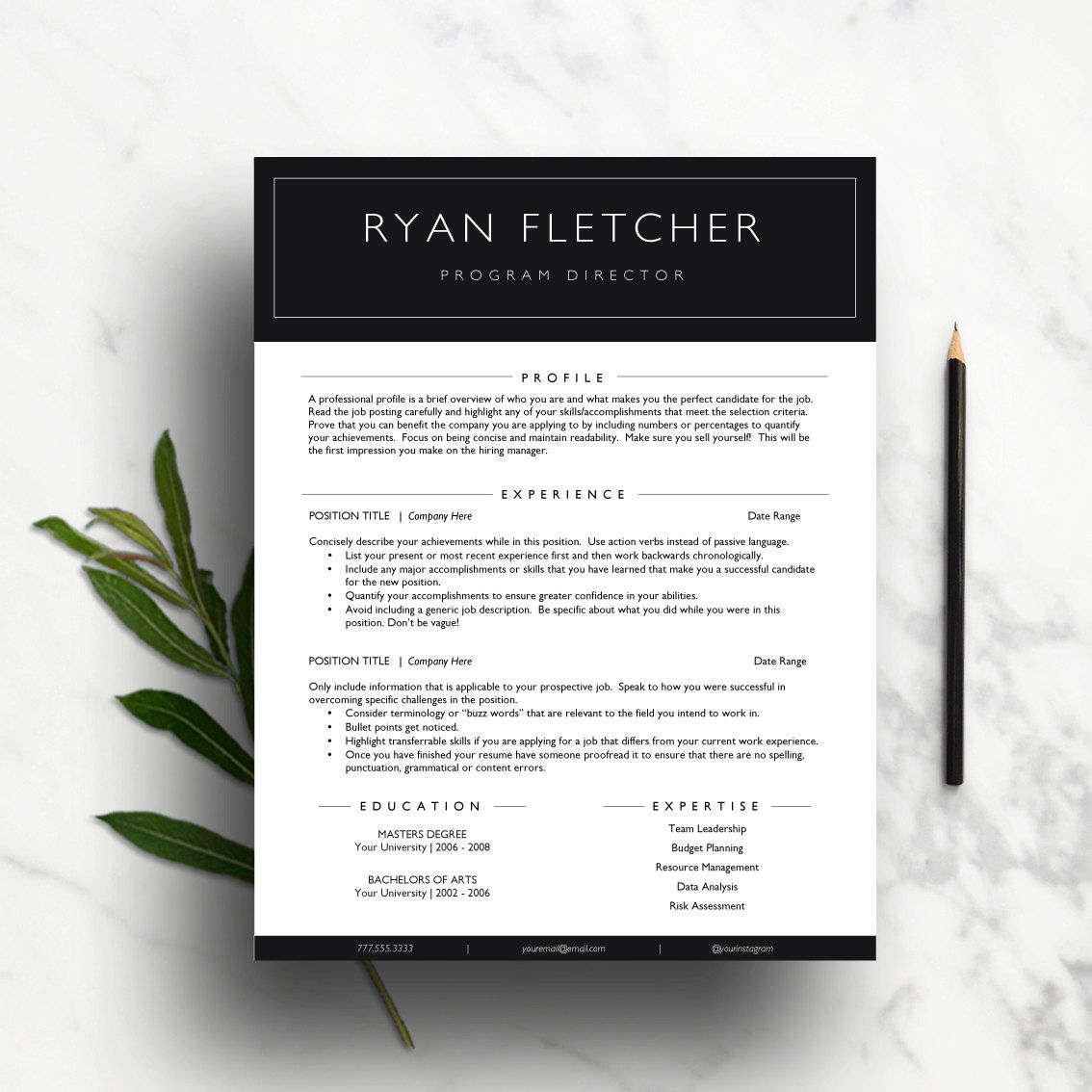 professional resume template ms word simple resume a4 us professional resume template modern cv template cover letter references page