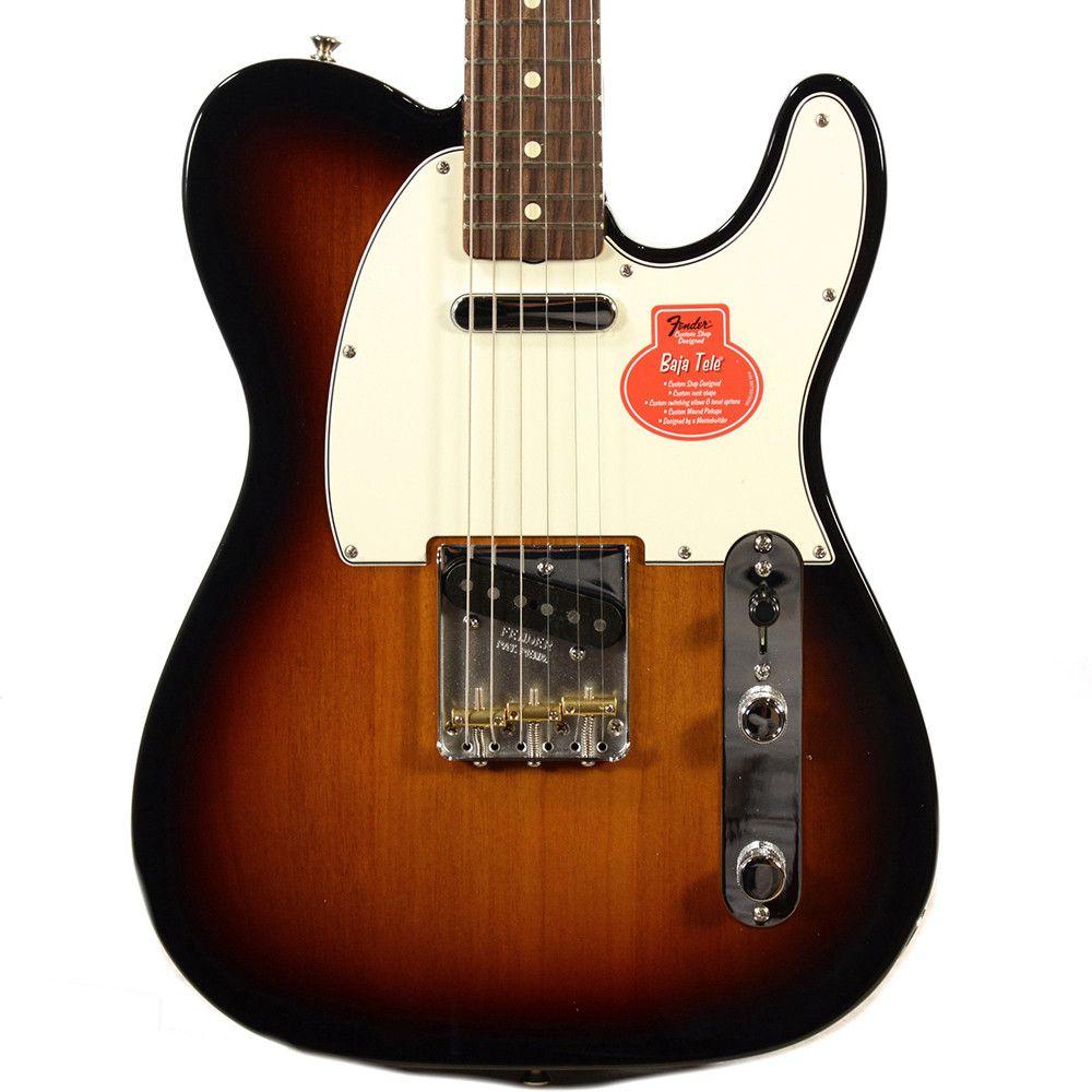 Fender Classic Player Baja 60s Telecaster 3 Color Sunburst W Deluxe G Telecaster Fender American Deluxe Telecaster Fender Telecaster