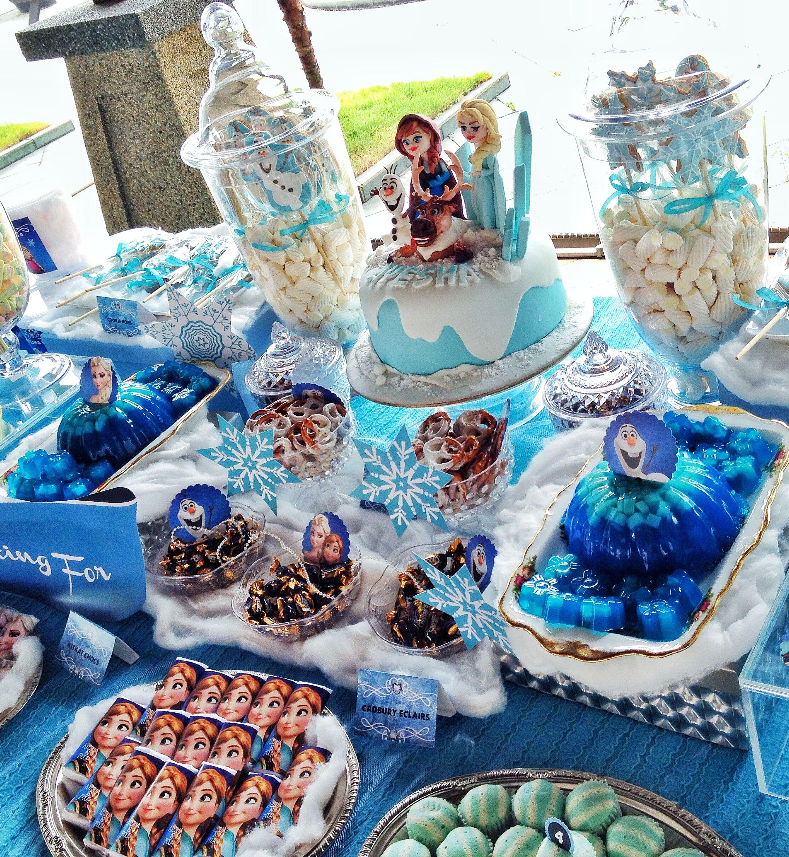 frozen theme party | Dessert Table & Candy Bar | Pinterest ...