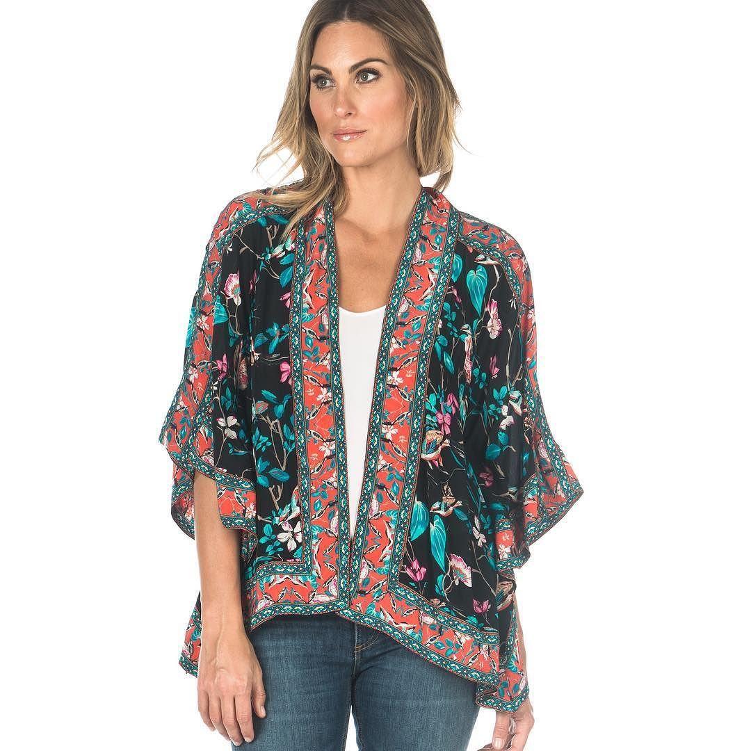 Beautiful silk kimono jacket by Tolani #tolani #springjacket ...
