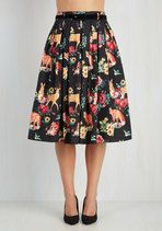 Cute skirt with deer, rabbits, and foxes!