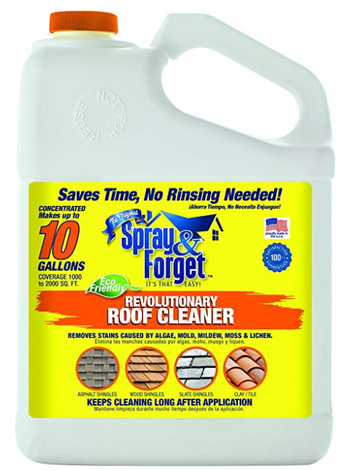 Spray Forget Revolutionary Roof Cleaner Concentrate Mildew Roof Cleaning Cleaners