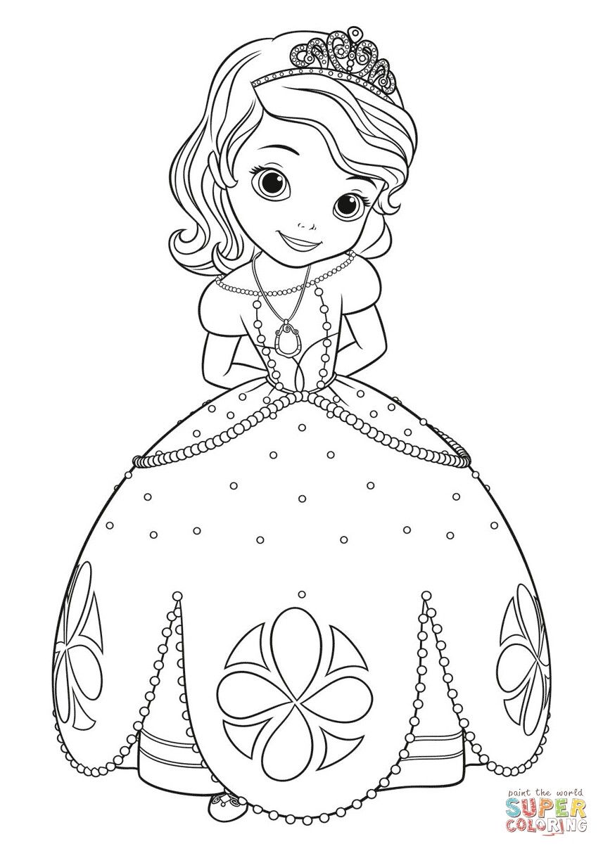 Desenhos Para Colorir Princesa Sofia