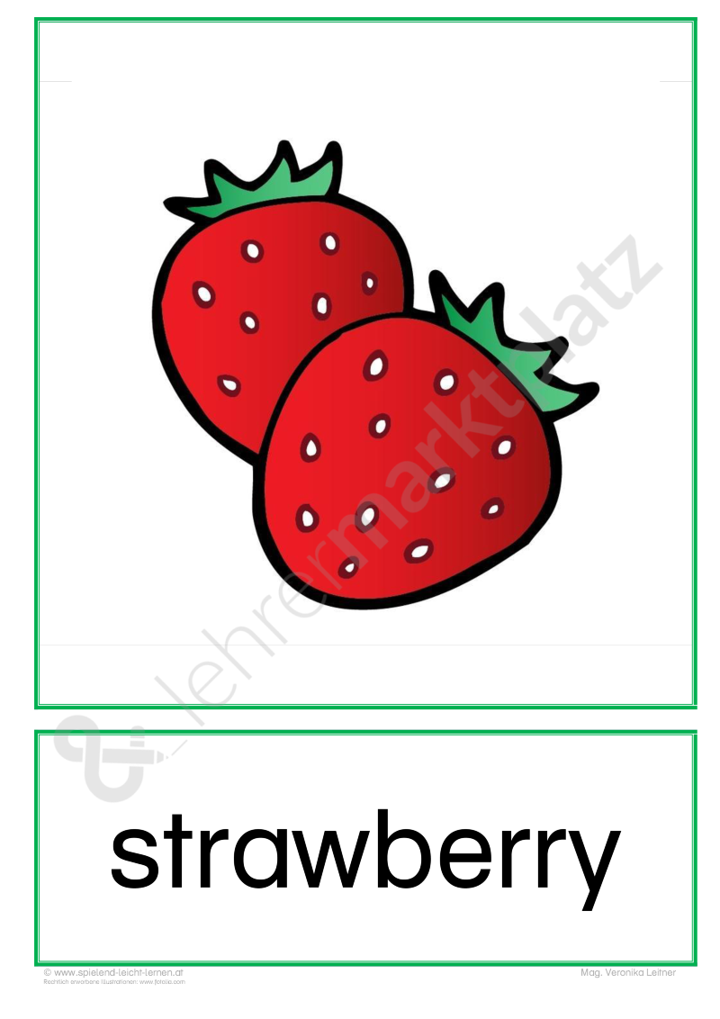 Flashcards Obst \