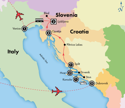 14 Day Dalmatian Isles Croatia Slovenia Visit Dubrovnik Hvar Korcula Ljubljana Opatija Split And Venice Disco Trip Planning Croatia Travel Croatia