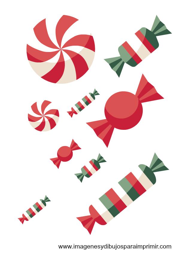Caramelos de navidad imagenes y dibujos para imprimir - Caramelos de navidad ...