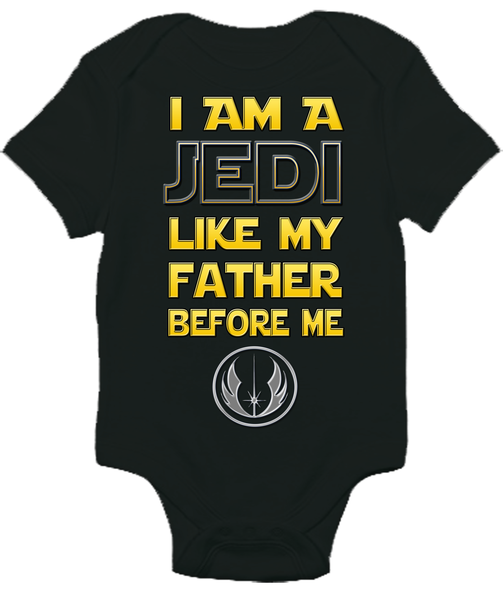 10d14deb I Am a Jedi Like My Father Before Me Star Wars One-piece Baby Bodysuit  Romper