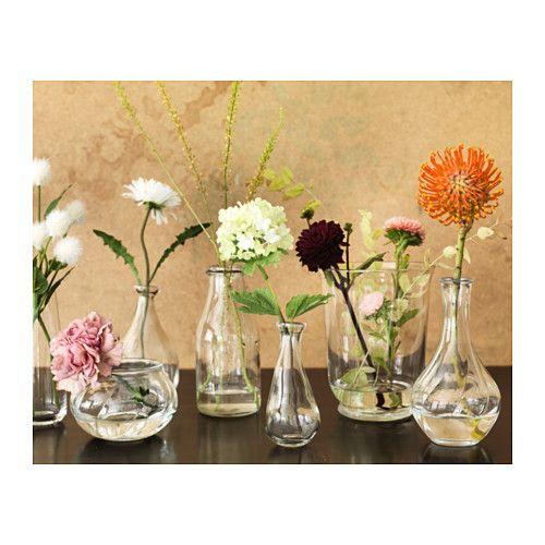 Viljestark Vase Clear Glass Height 6 Ikea Wedding Wedding