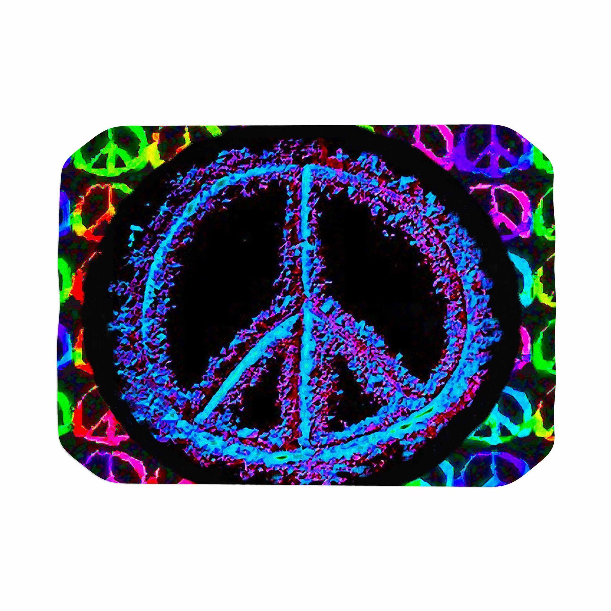 "Anne LaBrie ""Heavenly Peace"" Blue Digital Place Mat"
