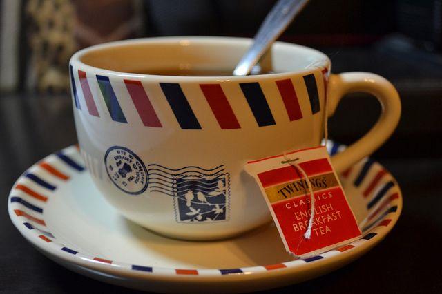 Открытка английский чай, день рождения девочке