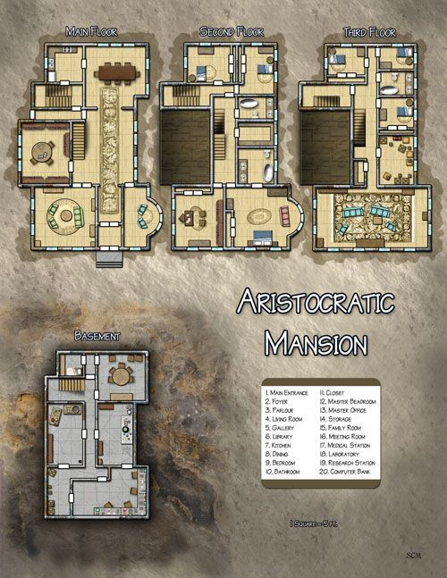 Aristocratic Mansion D D Resources Pinterest Fantasy Map Map