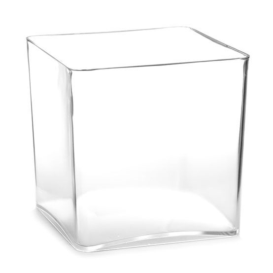 Tall Square Base Acrylic Vases Measire 13 X 13 X 13cm Tall 695