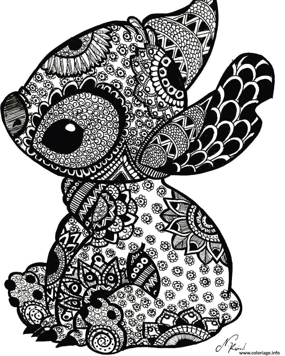 Coloriage Stitch A Imprimer