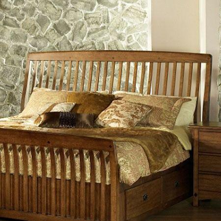 Craftsman Style Bed Schlafzimmer Im Mission Bettgestell Und Kopfteil Bettgestelle Bett
