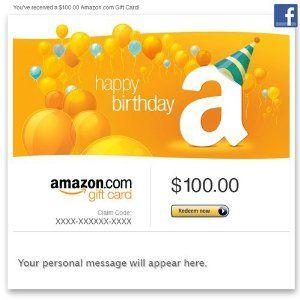 Amazon Gift Card Facebook Happy Birthday Balloons Order At Http Www Amazon Com Amazon Gi Happy Birthday Cards Amazon Gift Cards Happy Birthday Candles