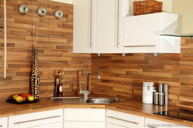 Backslash Ideas With Wood Countertops Pictures Of Kitchens Modern White Kitchen Cabinets Modern White Kitchen Cabinets Kitchen Backplash Laminate Kitchen