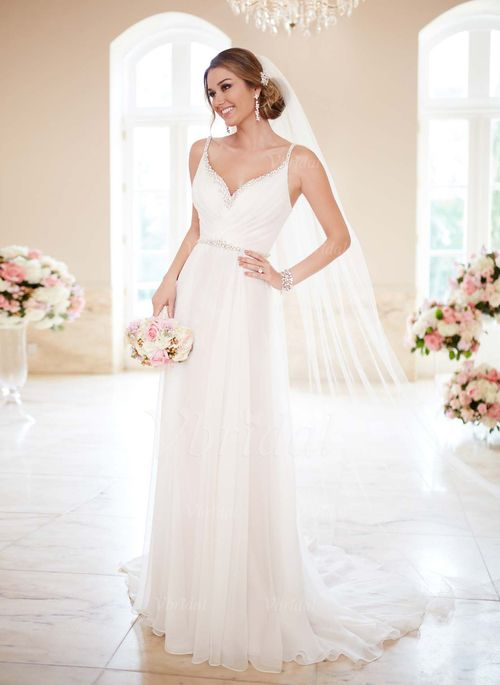 Wedding Dresses - $176.88 - A-Line/Princess V-neck Court Train ...
