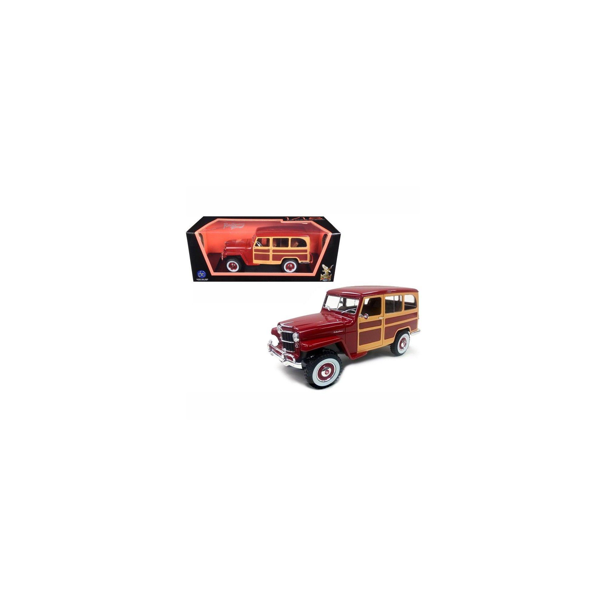 1955 Willys Jeep Station Wagon 1950 Burgundy 1 18 Diecast Model Car By Rh Pinterest Com