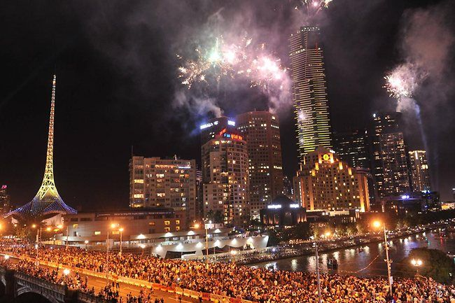 new year fireworks melbourne